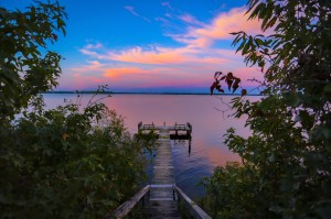 lake and dock by Todd DeSantis